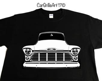 1956 Chevy Truck C10, Pickup, V8 Suburban, Panel, Chevy Truck. K10, C/K T-Shirt, 1955 Chevy Truck Series 2
