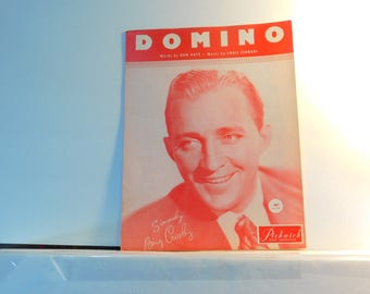 Domino - vintage sheet music by Don Raye and Louis Ferrari  1951 - has Bing Crosby on the cover