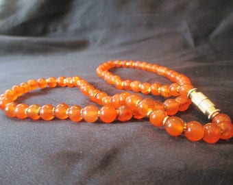 Beautiful And Stylish Carnelian Necklace 18 inches