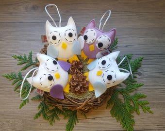 Baby Decorations, Owl Ornament, Party Favor Gift, Best of Birds, Gift Under 50, Summer Find, Decorative Owl, Kids Bedroom, Textile Art,