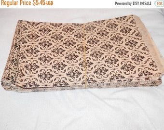 On Sale 100 Pack  Damask Print Merchandise Bags, Paper Bags, Gift Bags 6x9  Favor Bags