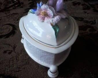 Romanian Fine Bone China Trinket Box by Ramex, CLUJ Collection