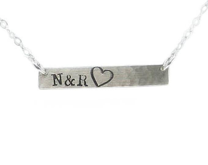 Heart Bar Necklace