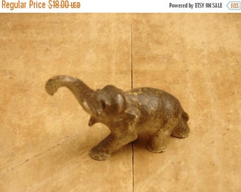 ON SALE antique cast iron elephant figure, all original paint, turn of the century