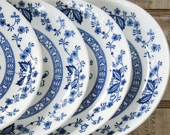 Antique Blue Delft China Bread and Butter Plates Set of 4 Blue Angel Present Dessert Plates Replacement China