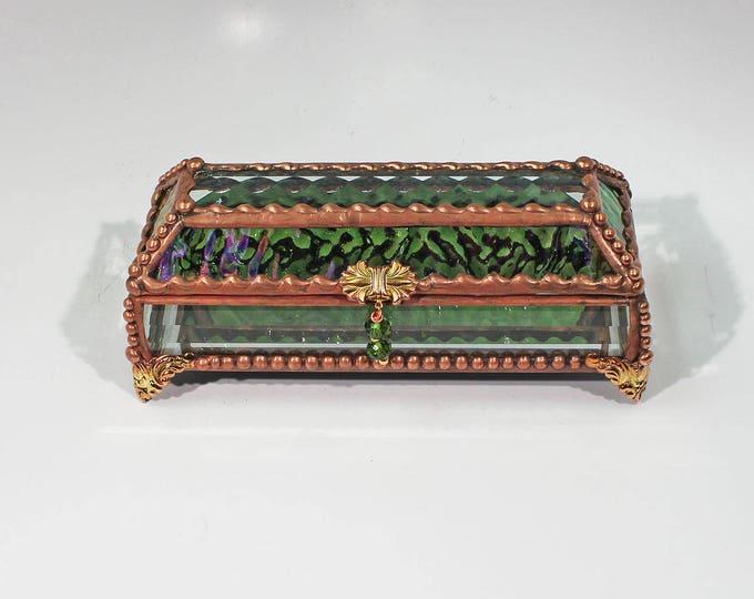 Eye Glass Case, stained glass box, glass box, trinket box, treasure box
