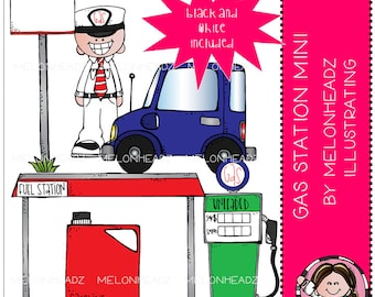 Gas Station clip art - Mini
