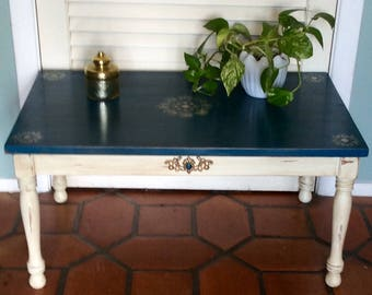 Small Blue Coffee Table