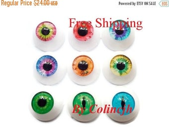 On Sale 10pairs 20mm Handmade Glass Safety Eyes BJD Eyes For Doll Mix
