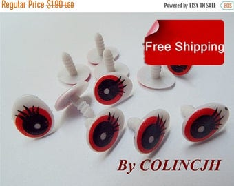 On Sale Toy Eyes Cartoon Eyes Safety Eyes Animal Eyes Craft Eyes Plastic Eyes(10 pair,style5)