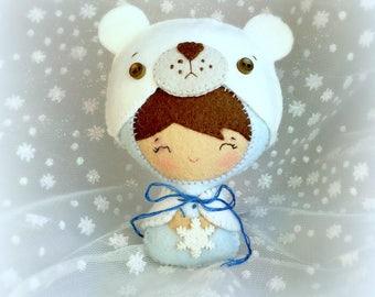 Baby Dressed as a Polar Bear