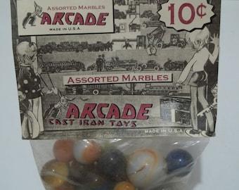 VintageArcade Brand Marbles in Original Package
