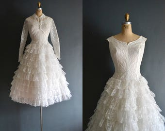 Alisa / 50s wedding dress / vintage 1950s wedding dress