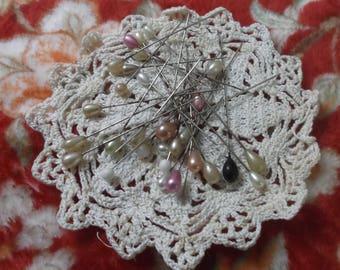Vintage HAT PINS Pink, Black, Whites, Creams Total of 30!