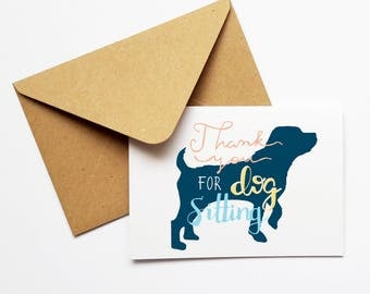 Pet Thank You Card,Animal Card,Pet Card,Dog Thank You Card,Pet-sitter Card,Dog sitter Card,Veterinarian Card,Dog Trainer,From the Dog