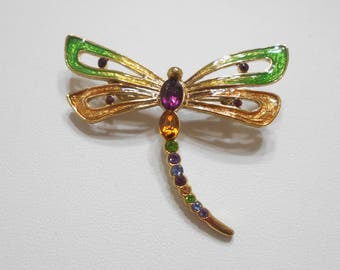 Gorgeous Vintage Monet Dragonfly Brooch (8788) Gorgeous Rhinestones