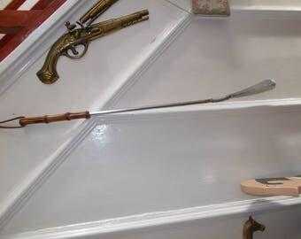 vintage spring  bamboo handle shoe horn