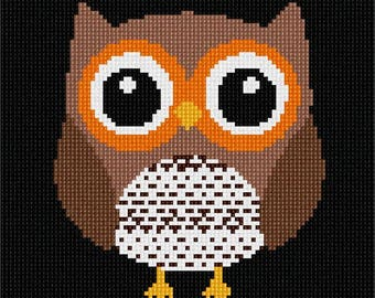 Needlepoint Kit or Canvas: Easy Owl