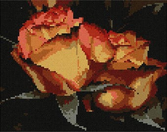 Needlepoint Kit or Canvas: Dried Roses