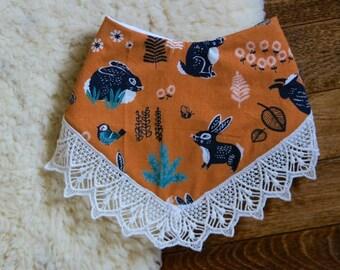 Organic Bunnies in Lace || Bandit Bib