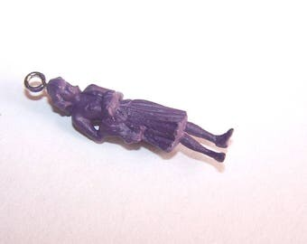Charm mini woman 30 mm purple (2) for jewelry making