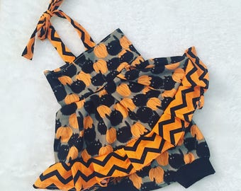 Halloween , shorties, set,Pageant, OOC, Boutique Style size Ruffle dress NB 3  6 9 12 24 months, size 2 3 4 5T
