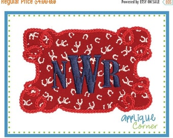 50% Off 659 Western Rope Patch applique design digital for embroidery machine by Applique Corner