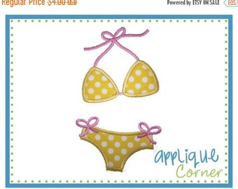 40% OFF INSTANT DOWNLOAD Bikini Swimsuit Bathing Suit applique digital design for embroidery machine by Applique Corner