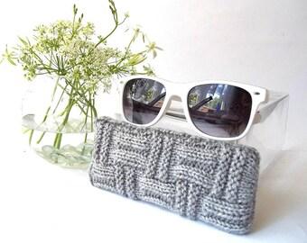 Gray Glasses Case. Eyeglasses Case. Eyeglasses Holder. Sunglasses Case. Reading Glasses Case. Spectacles Case.