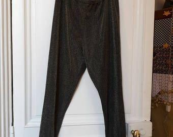 Vintage 90 gold lurex  leggings/ trousers