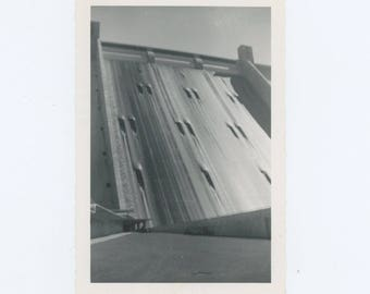 Dam Sluices, c1940s-50s Vintage Snapshot Photo (65467)
