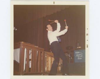 Lawrence Welk's Vibraphone Player, 1972: Vintage Snapshot Photo (77594)