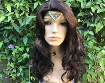 Wonder Woman 2017 Movie Brown Brunette Wavy Wig