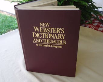 Large Dictionary, vintage Webster's, Hardcover reference book, Thesaurus, English Dictionary, Antique book