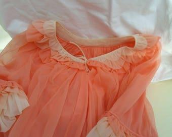 Apricot and cream negligee