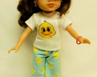 Goofy Duck PJ's For 14.5 Inch Doll Like Wellie Wishers