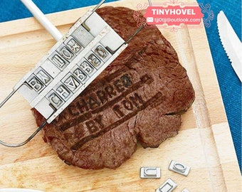 Creative Changeable 55 Letters Steak Branding Iron BBQ Tool, Kitchen Gadgets ,Making your own logo HB001