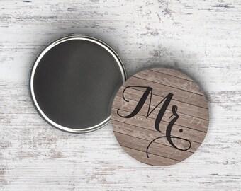 "Mr Woodgrain 2.25"" Magnet"