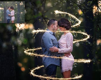 FREE Mini Sparkler Photoshop Overlay & Photoshop Action Collection for Photoshop and PSE - Free Photoshop Actions - Free Photoshop Overlays