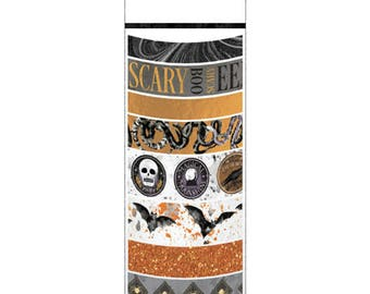 HALLOWEEN WASHI TAPEs by MaRTHA STEWART -  Pack of 8 - New !! CHOICEs of COLORs !!