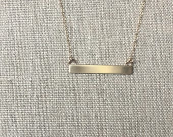 Simple Gold Bar Necklace - Nugold - Brass