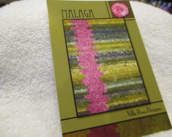 """Paper pattern for a quilt called Malaga by Villa Rosa Designs 52"""" x 72"""""""