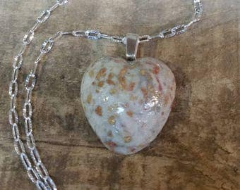 Custom Keepsake / Memorial Pendant or Necklace made from your Flower Petals Pet fur or Cremains - HEART CABOCHON