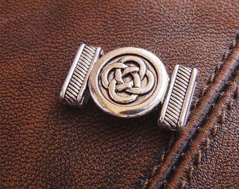 5 beads from Celtic knot antique silver, size: 24mm x 14.5 mm