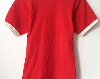 vintage russell athletic mesh ringer adult size small deadstock NWOT 80s made in USA