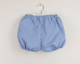 Baby bloomers - Blue Gingham bloomers - Available in more colors