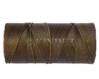 Waxed Polyester Cord - 1 spool - Macrame Cord - Jewelry Cord - Moss Green