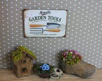 Dollhouse miniature garden sign (25 different subjects)