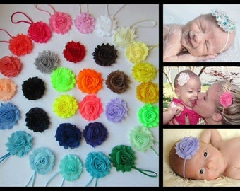 YOU PICK 6 Baby Headband, Shabby Chic Headband Set, Infant Headbands, Newborn Headbands