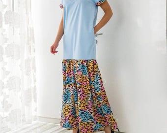 ON 25 % OFF Blue Maxi Dress, Abaya Dress, Summer Dress, Long Dress, Abaya Maxi dress, Maxi dress summer